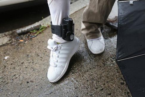 Dozór elektroniczny, areszt domowy, obrączka na nodze